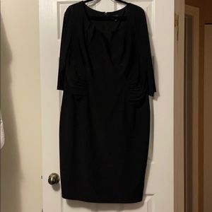 Adrianna Papell Woman Black Cocktail Dress (18W)